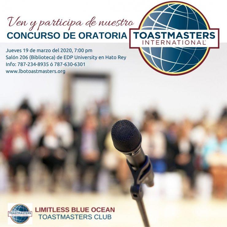 concurso de oratoria limitless blue ocean toastmasters club puerto rico